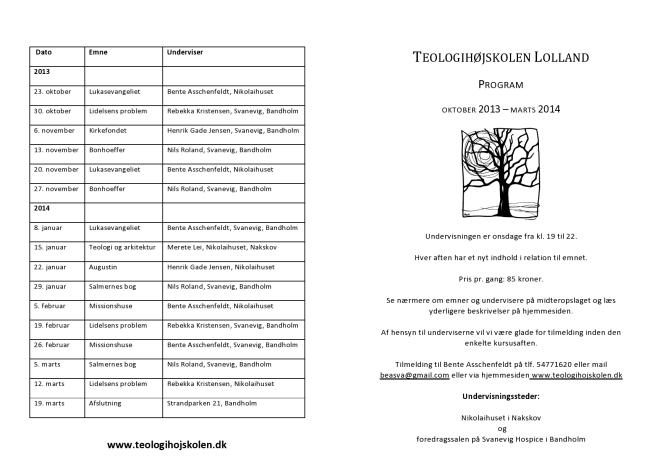Program 2013-14 - side 1 og 4