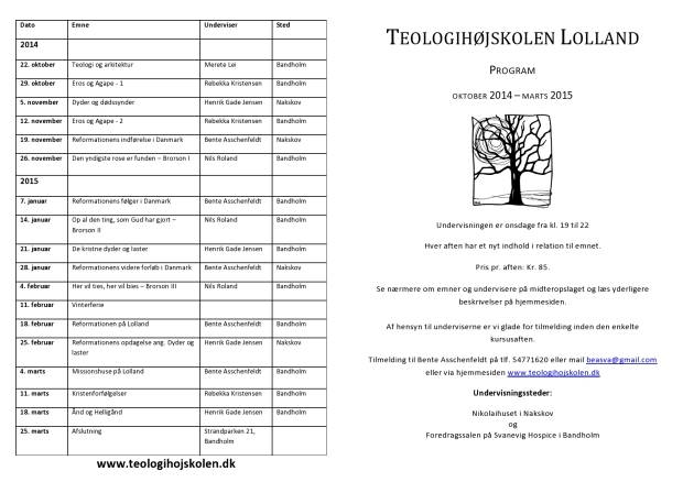 THS-Program teologihøjskolen 2014 side 1 og 4-page0001
